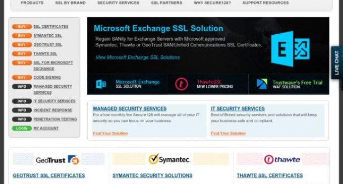 Secure128 Debuts Full Suite of Security and Website Marketing Product Offerings