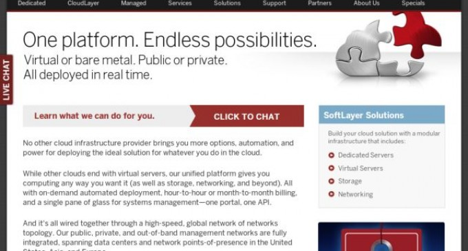 SoftLayer Launches Public Cloud Computing Image Sharing