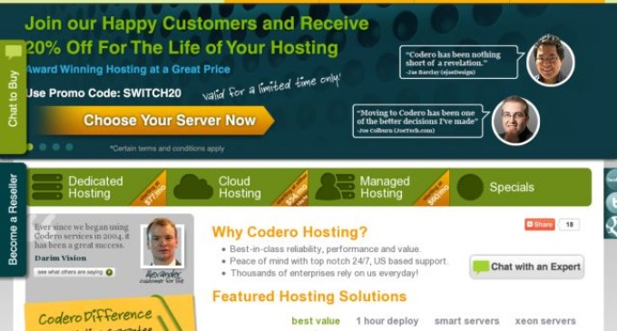 Hosting Customers Get an Increased 100% Uptime Guarantee and Network Enhancements from Codero