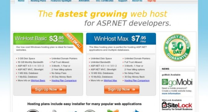 WinHost Launces a Microsoft Windows Hosting Feature Spotlight Page