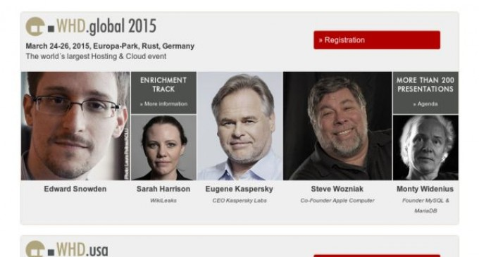 WHD.global 2015 Announces Exclusive Q&A session with Internet Activists Sarah Harrison and Edward Snowden