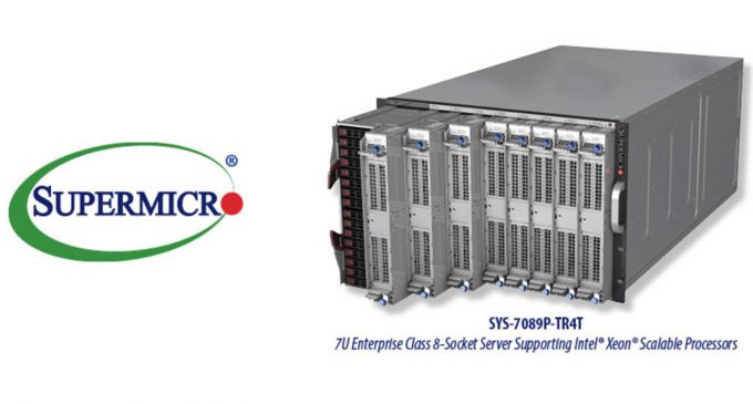 Supermicro Launches New Enterprise Class 8-Socket Server for Intel Xeon Scalable Processors