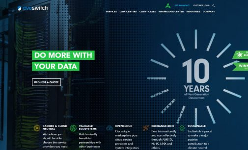 Sustainable Colocation Data Center Company EvoSwitch Celebrates 10th Anniversary with Corporate Rebrand