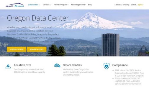 Peak 10 + ViaWest to Expand Oregon Data Center by More than 100,000 Square Feet