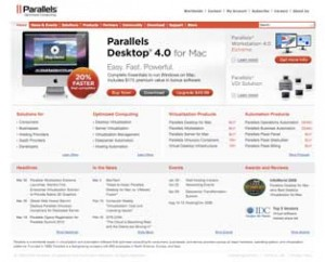 Parallels Website