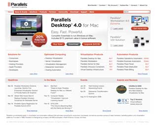 Parallels Website