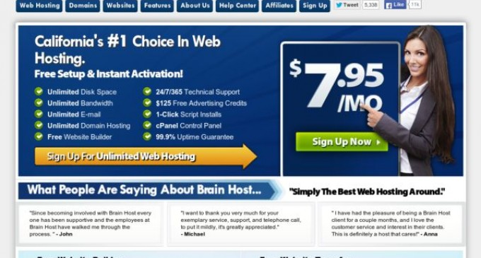 Web Hosting Provider 'Brain Host' Now Offering Free Website Migration, a Free Website Builder and Free Traffic
