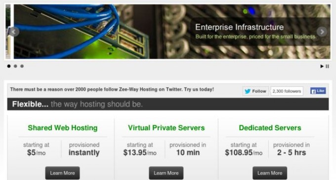"The Zee-Way Hosting Difference Includes CloudLinux ""Segmented"" Shared Hosting"