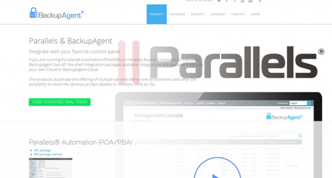 BackupAgent releases APS 2.0 package for Parallels