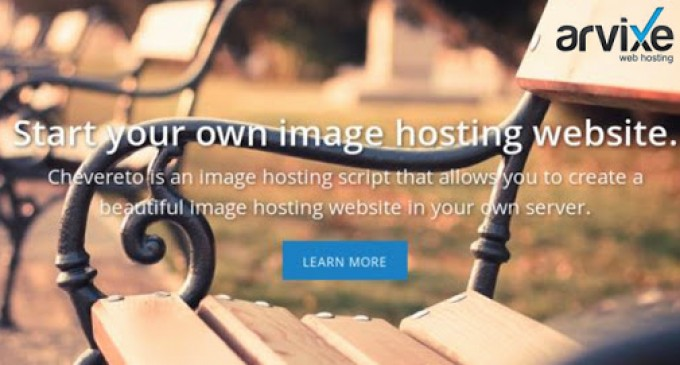 Arvixe Partners with Image Hosting Script, Chevereto