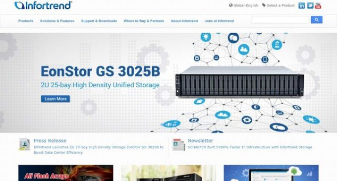 Infortrend Launches 2U 25-bay High Density Storage EonStor GS 3025B to Boost Data Center Efficiency