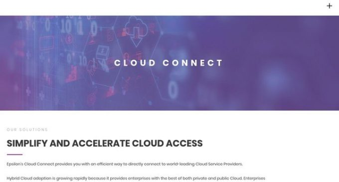 Connectria Selects Epsilon to Deliver On-Demand Cloud Connectivity