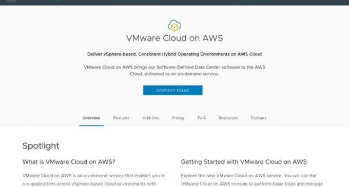 VMware and AWS Expand Capabilities and Availability of VMware Cloud on AWS