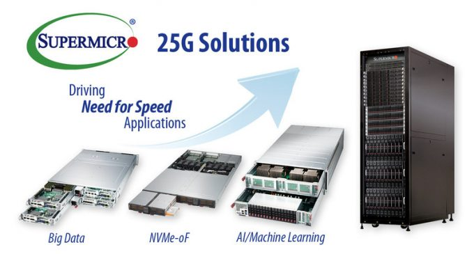 Supermicro Opens Path to 100G Networking with New 25G Ethernet Server and Storage Solutions